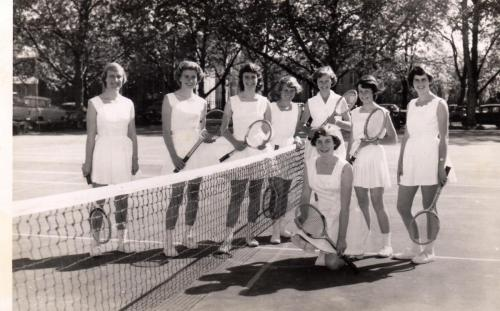 1958 Tennis Girls A & B